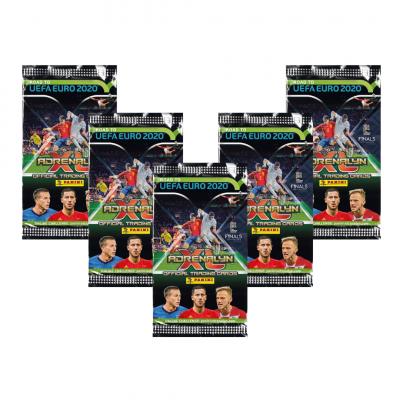 5 пакетиков (по 6 карточек в каждом) по коллекции Panini Road to Euro 2020 Adrenalyn XL
