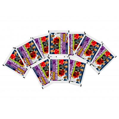 50 пакетиков с наклейками (5 шт. в каждом) Panini Road to Euro 2020