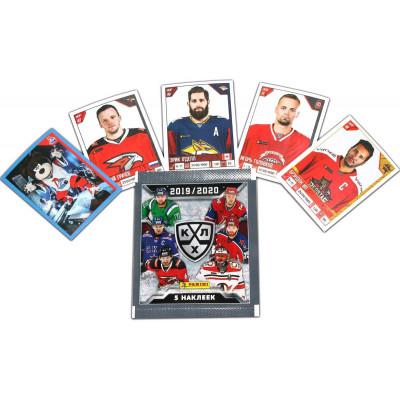 1 пакетик с наклейками (5 шт. штук в каждом) 2019-20 Panini КХЛ 12 сезон