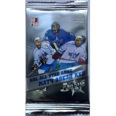 1 пакетик (5 карточек) по коллекции хоккейных карточек 2012-13 Sereal КХЛ Матч Звезд