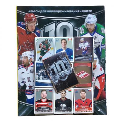 Комплект наклеек (439 шт.) + альбом 2017-18 Panini КХЛ 10 сезон