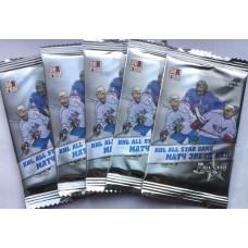 10 пакетиков (по 5 карточек в каждом) по коллекции хоккейных карточек 2012-13 Sereal КХЛ Матч Звезд