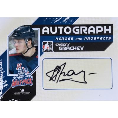 ЕВГЕНИЙ ГРАЧЕВ (Hartford Wolf Pack, AHL) 2010-11 ITG Heroes and Prospects (автограф)