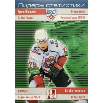 ЯРККО ИММОНЕН (Ак Барс) 2012-13 Sereal КХЛ (5 сезон) Лидеры статистики