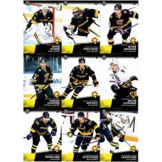 СЕВЕРСТАЛЬ (ЧЕРЕПОВЕЦ) комплект 9 карточек 2017-18 SeReal КХЛ 10 сезон.