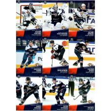 МЕТАЛЛУРГ (Магнитогорск) комплект 18 карточек 2017-18 SeReal КХЛ 10 сезон.