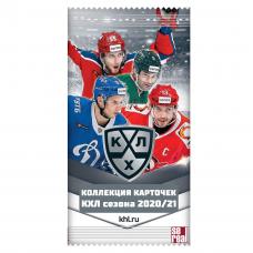 1 пакетик (6 карточек) по коллекции 2020-21 SeReal КХЛ 13 сезон