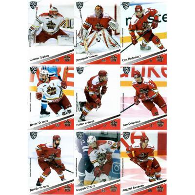 КУНЬЛУНЬ РЕД СТАР (Пекин) комплект 18 карточек 2020-21 SeReal КХЛ 13 сезон