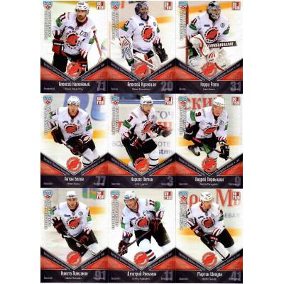АВАНГАРД (Омск) комплект 24 карточек 2011-2012 SeReal КХЛ 4 сезон.
