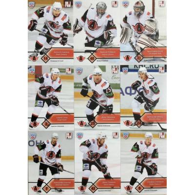 АВТОМОБИЛИСТ (Екатеринбург) комплект 18 карточек 2012-13 Sereal КХЛ 5 сезон.