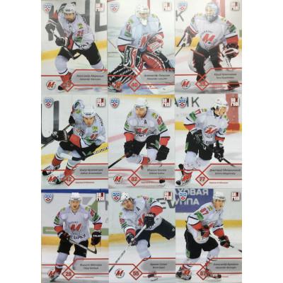 МЕТАЛЛУРГ (Новокузнецк) комплект 18 карточек 2012-13 SeReal КХЛ 5 сезон.