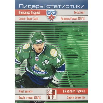 АЛЕКСАНДР РАДУЛОВ (Салават Юлаев) 2012-13 Sereal КХЛ (5 сезон) Лидеры статистики