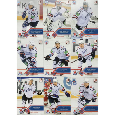 СИБИРЬ (Новосибирск) комплект 18 карточек 2012-13 Sereal КХЛ 5 сезон.