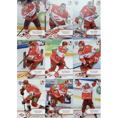 СПАРТАК (Москва) комплект 18 карточек 2012-13 Sereal КХЛ 5 сезон.