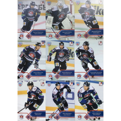 ТОРПЕДО (Нижний Новгород) комплект 18 карточек 2012-13 Sereal КХЛ 5 сезон.