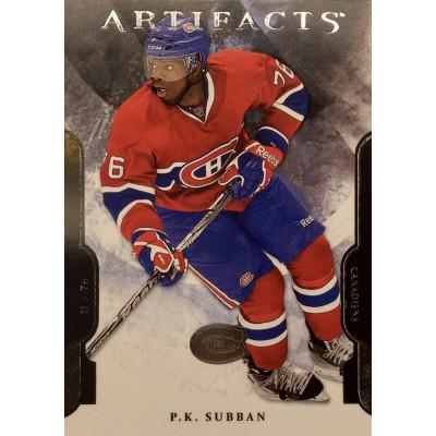 Пи-Кей Суббан (Монреаль) 2011-12 UD Artifacts