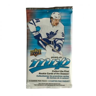 1 пакетик (5 карточек) по коллекции 2020-21 UD MVP
