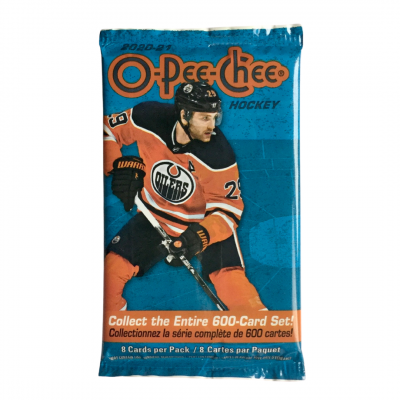 1 пакетик (8 карточек) по коллекции 2020-21 UD O-Pee-Chee