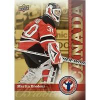МАРТИН БРОДЕР (Нью-Джерси) 2010 UD National Hockey Card Day