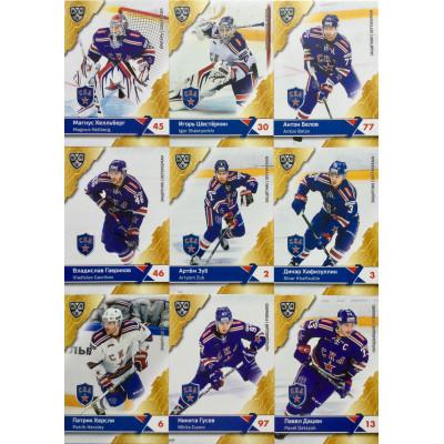 СКА (Санкт-Петербург) комплект 18 карточек 2018-19 SeReal КХЛ 11 сезон.