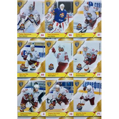ЙОКЕРИТ (Хельсинки) комплект 18 карточек 2018-19 SeReal КХЛ 11 сезон.