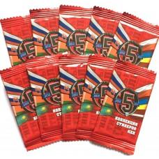 10 пакетиков (по 5 стикеров) коллекция КХЛ 5 сезон (Овечкин, Малкин, Ковальчук и др.)