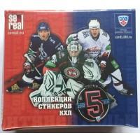 1 блок (50 пакетиков) стикеров 2012-13 Sereal КХЛ 5 сезон (Овечкин, Малкин, Ковальчук и др.)